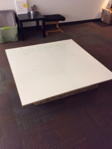 Whiteboard table for minilessons