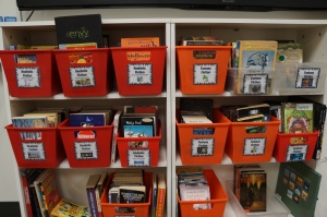 Book bins with NEW picture labels